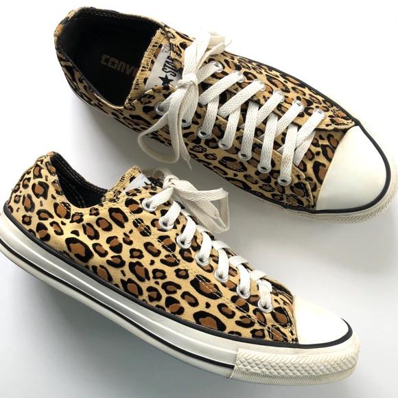 bfe82e5d866 Converse Shoes - Converse All Star Tan Leopard Print Low SZ9M 11W